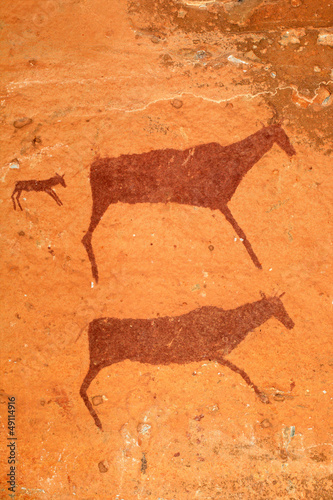 Bushmen (san) rock painting, Drakensberg mountains