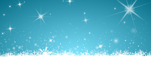 Winter Background with snw and stars