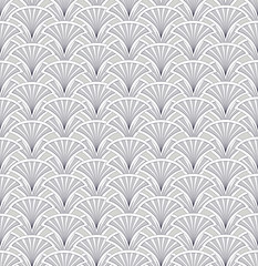 Abstract fan shaped seamless pattern. Floral vector background.