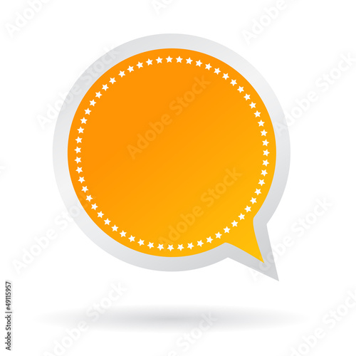 Orange vector text bubble