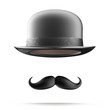 Bowler hat and mustaches