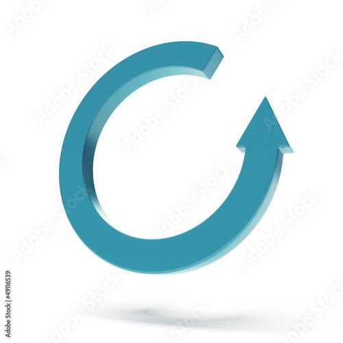 Circular arrow pictogram