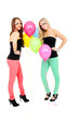 Frauen zwischen Luftballons