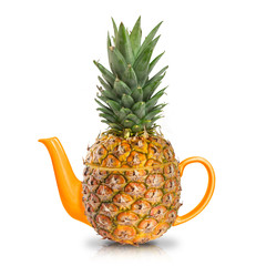 Concept yellow pineapple tea