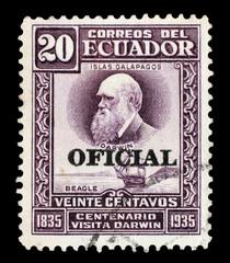 ECUADOR, CIRCA 1935 - Stamp in memory of Darwin expedition