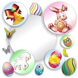 Happy Easter Stickers on Wall-Buona Pasqua Adesivi Auguri