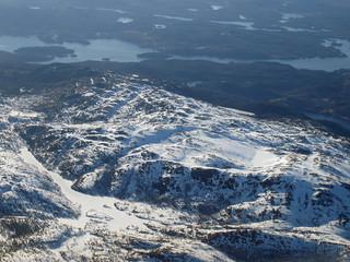 Luftaufnahme Norwegen im Winter