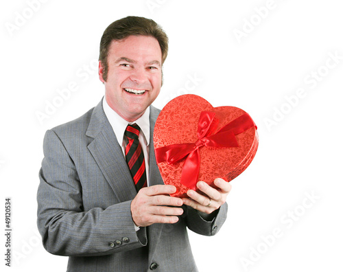 Businessman with Valentine Heart