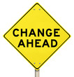 Yellow Warning Sign - Change Ahead - Isolated