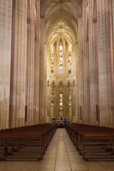 Interior of Santa Maria da Vitoria monastery, Batalha, Portugal