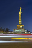 Fototapety Berlin Siegessaule at night