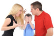 Angry Parents Fighting with Boy Child