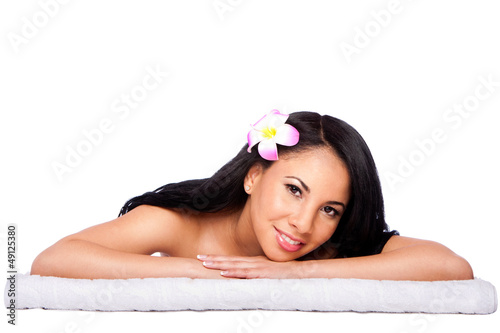 Woman at holiday spa