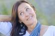 Portrait Attractive mature woman park outdoor