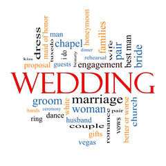 Wedding Word Cloud Concept