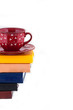 Coffee Cup on Pile of books
