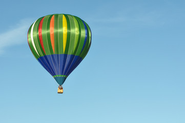 Green and Blue Hot Air Balloon