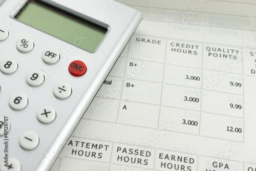 academic grade with calculator
