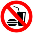 No eat and drink vector symbol