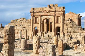 Roman ruins of Sufetula near Sbeitla, Tunisia