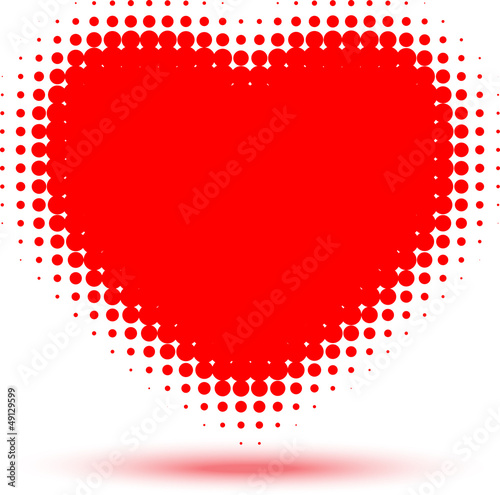 Heart Halftone Effect, vector Illustration
