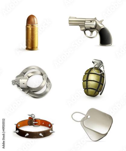 Arms, icon set