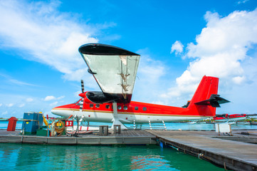 Hydroplane at Male airport, Maldives