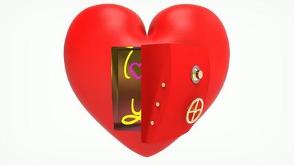 Corazón Caja Fuerte