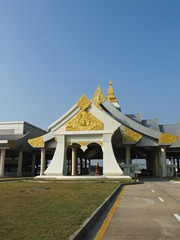 Facade of the third Thai Lao friendship bridge immigration offic
