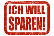 Grunge Stempel rot WICH WILL SPAREN!