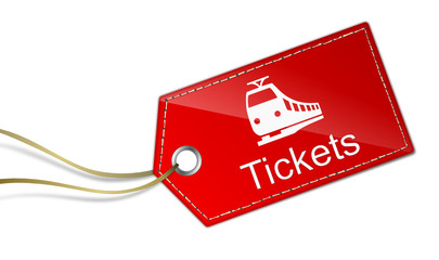 Anhänger Bahnticket
