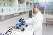 Untersuchung vom Spenderblut im Blutlabor