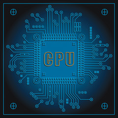Circuit board with Central processing unit.