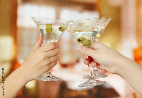 Corporate party martini glasses