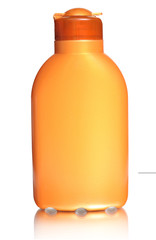 Plastic bottle for sun lotion