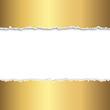 aufgerissenes goldenes Papier mit Textfreiraum
