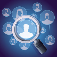 Vector social media networking concept