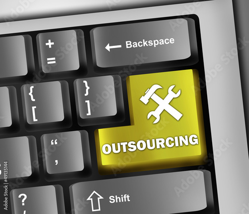 "Keyboard Illustration ""Outsourcing"""
