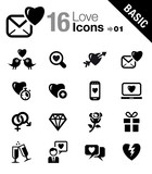 Basic - Love and Dating icons