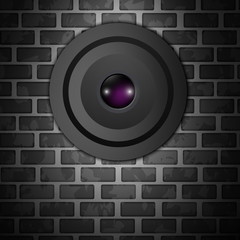 Webcam on wall