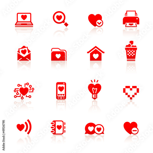 Set valentine's day red symbols