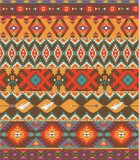 Seamless colorful aztec pattern