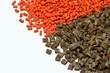Leinwanddruck Bild - orange/brown polymer resin