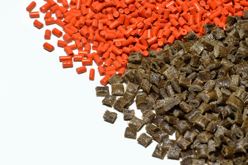 orange/brown polymer resin