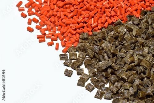 Leinwanddruck Bild orange/brown polymer resin