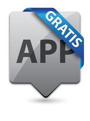 App Pointer Button Gratis Blau