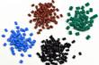 4 dyed polymer resins