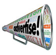 Advertise Bullhorn Megaphone Words of Marketing