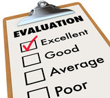 Evaluation Report Card Clipboard Assessment Grades poster