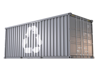 recycle mark on cargo container